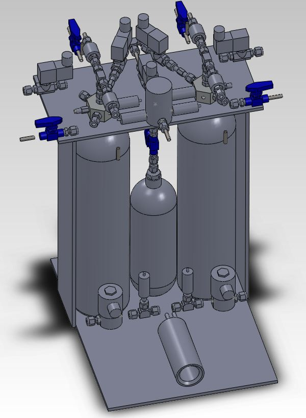 PEAK Test Stand Solidworks rendering