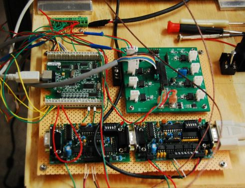 Test Stand electronics bread board